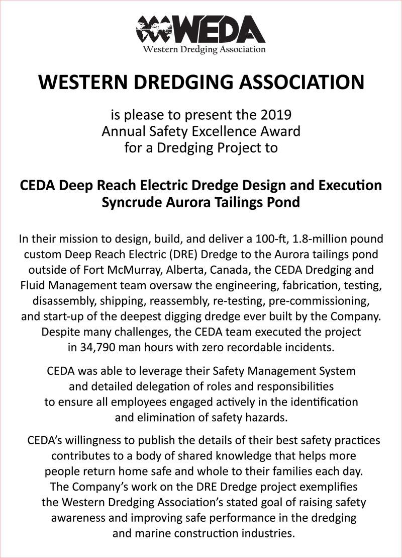 Western Dredging Association - WEDA Hall of Fame
